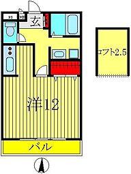 セレニティーホームズC棟[2階]の間取り