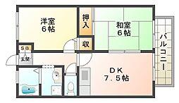 ハイツKII[2階]の間取り