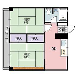 静岡県静岡市葵区新通1丁目の賃貸マンションの間取り