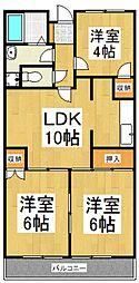 セント東大和[4階]の間取り