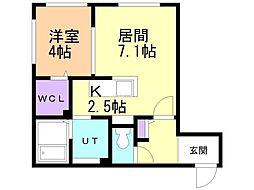 仮)厚別中央5条4丁目MS 4階1LDKの間取り