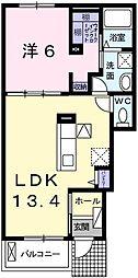 JR姫新線 余部駅 徒歩18分の賃貸アパート 1階1LDKの間取り