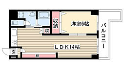 愛知県名古屋市名東区引山3丁目の賃貸マンションの間取り