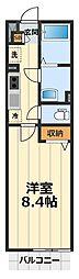 神奈川県大和市鶴間2丁目の賃貸マンションの間取り