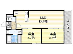 札幌市電2系統 西線9条旭山公園通駅 徒歩5分の賃貸マンション 1階2LDKの間取り
