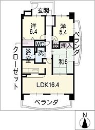 ジョイフル春日 弐号館[1階]の間取り