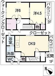 [一戸建] 愛知県豊明市新田町西筋 の賃貸【/】の間取り
