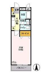 埼玉県草加市青柳3の賃貸アパートの間取り