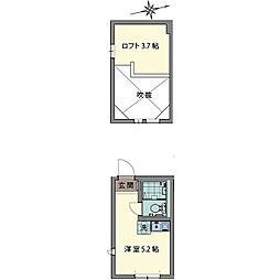 ルシェン和田町[0204号室]の間取り