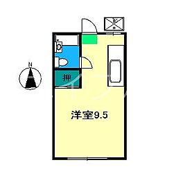 レスト吉田町[3階]の間取り