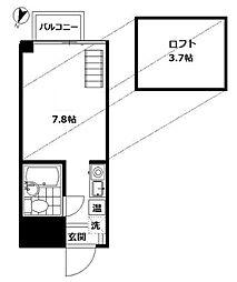 パソム大森[3階]の間取り
