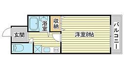 兵庫県姫路市上大野4丁目の賃貸マンションの間取り