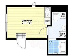 グランドセントラル日本橋茅場町 5階ワンルームの間取り