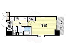 阪急京都本線 淡路駅 徒歩7分の賃貸マンション 11階1Kの間取り
