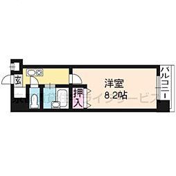 パラシオン京都[905号室]の間取り
