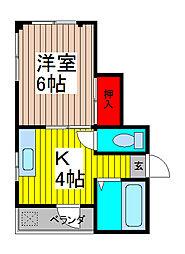 パークサイドR[2階]の間取り