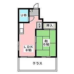 八雲ハイツ[1階]の間取り