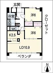 イーグルネスト新須磨[3階]の間取り