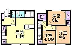 新川西3-6テラスハウス 3SLDKの間取り