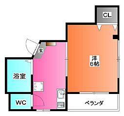 東京都北区神谷3の賃貸マンションの間取り