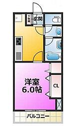 東京都江戸川区篠崎町7丁目の賃貸マンションの間取り