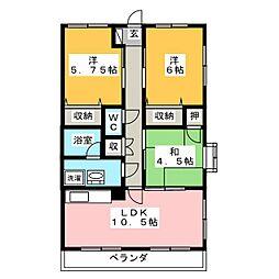 コウジー・コート21[3階]の間取り