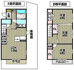 [タウンハウス] 大阪府堺市北区百舌鳥西之町2丁 の賃貸【/】の間取り