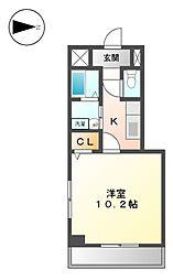 愛知県名古屋市北区杉栄町2丁目の賃貸マンションの間取り