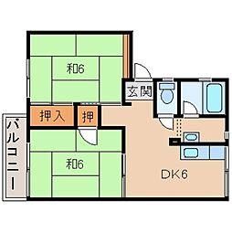タウニィN[2階]の間取り
