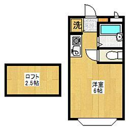 セゾンフローラB[104号室]の間取り