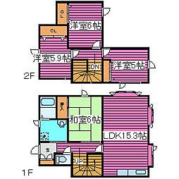 [一戸建] 北海道札幌市北区屯田五条11丁目 の賃貸【/】の間取り