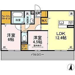 (仮)D−room柳丸[306号室]の間取り