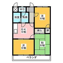 クランプガーデンサウス[1階]の間取り