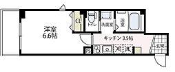 ラフィネ横浜[302号室号室]の間取り