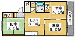 FKマンションII[3階]の間取り