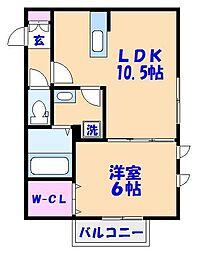 サニーガーデン榎本[3階]の間取り