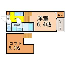 東区矢田四丁目新築デザイナーズ[1階]の間取り