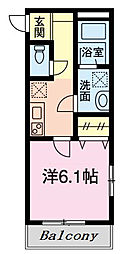 東京メトロ東西線 葛西駅 徒歩14分の賃貸アパート 3階1Kの間取り