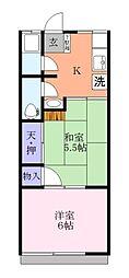 習志野コーポ[1階]の間取り