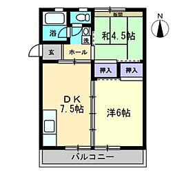 第2飯間ビル[301号室]の間取り