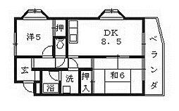 Tresure島泉(トレジャー島泉)[303号室号室]の間取り