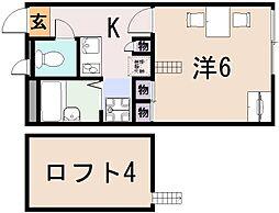 レオパレスドリーム田中21[2階]の間取り