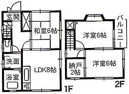 [一戸建] 広島県福山市東手城町3丁目 の賃貸【/】の間取り