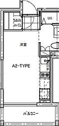 B CITY APARTMENT TACHIKAWA[201号室号室]の間取り