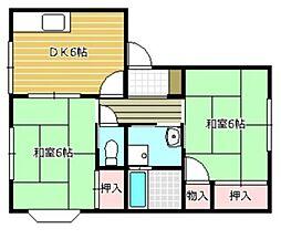 静岡県静岡市駿河区大谷の賃貸アパートの間取り