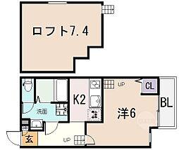 アクロス長瀬アパートメント[102号室]の間取り