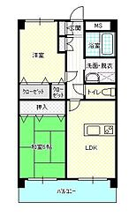 セレーノヨコヤマビル[403号室]の間取り