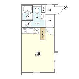 京王線 笹塚駅 徒歩8分の賃貸マンション 4階ワンルームの間取り