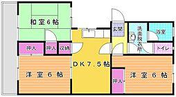 櫻山[102号室]の間取り