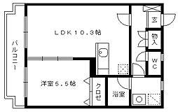 エステートK[101号室]の間取り